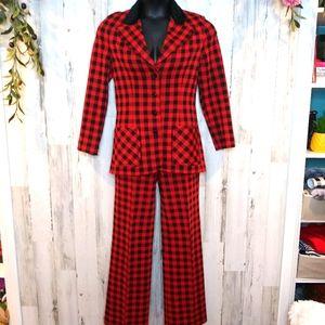 Vintage Act III Plaid Blazer Pant Skirt Suit/Small